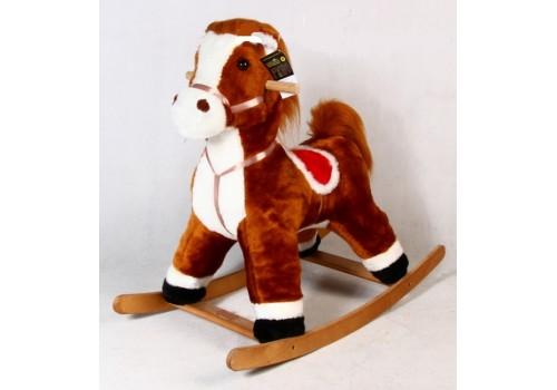 Качалка Конь Лучик коричневый МБР215