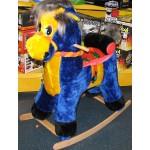 Качалка Лошадь с рисунком на спине