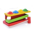Деревянная игрушка стучалка горка-шарики