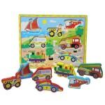 Деревянная рамка-вкладыш Транспорт В-070