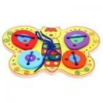 Игра шнуровка деревянная бабочка ШБ03