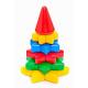 Пирамидка Ёлочка с конусом 12 деталей 1128