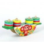 Деревянная игрушка Чебурашка пирамидка-весы РК-СН-01