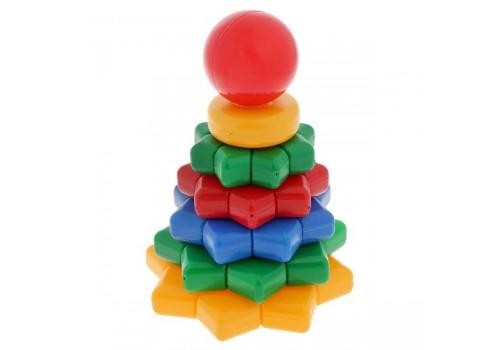 Пирамидка Цветик 13 деталей 1121