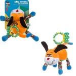 Игрушка-погремушка растяжка собака 15 см ТЕ9497-15