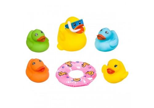 Набор резиновых игрушек для купания Утка с утятами с ...