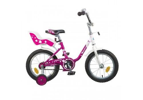 Велосипед 12 дюймов Новатрек UL сиреневый с багажником для кукол 124MAPLE.PR5