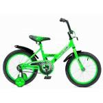 Велосипед 12 дюймов BlackAqua 1202 base-T со светящимися колесами, салатовый
