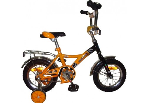 Велосипед 12 дюймов Новатрек FR-10 жёлтый.