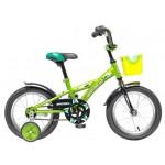 Велосипед 14 дюймов Новатрек Delfi салатово-черный 077410