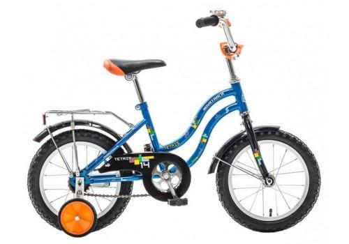 Велосипед Новатрек 14 дюймов TETRIS синий