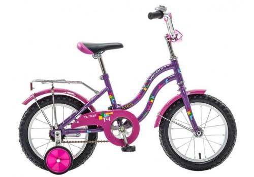 Велосипед Новатрек 14 дюймов TETRIS фиолетовый