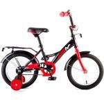Велосипед 14 дюймов Новатрек STRIKE чёрный-красный
