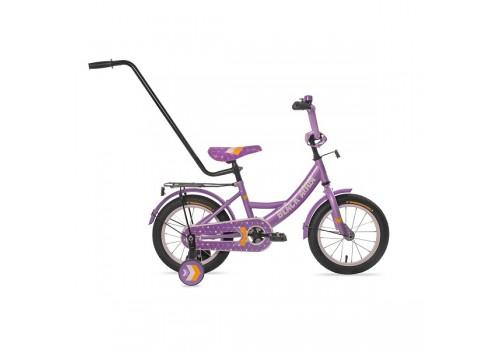 Велосипед 14 дюймов Black Aqua 1406-Т с родительской ручкой сиреневый