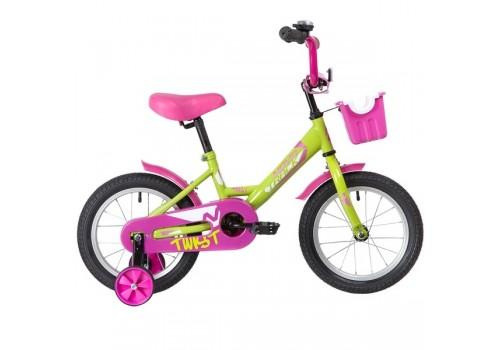Велосипед 14 дюймов Новатрек TWIST зелено-розовый 141TWIST.GNP20