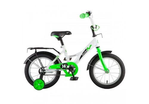 Велосипед 14 дюймов Новатрек STRIKE белый-зеленый