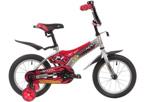Велосипед 14 дюймов Новатрек FLIGHTLINE серый 147FLIGHTLINE.GR9
