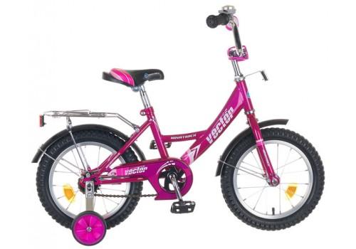 Велосипед 14 дюймов Novatrack Vektor фиолетовый