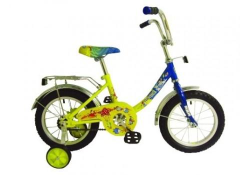 "Велосипед 14 дюймов Навигатор ""Ну, Погоди"" желто/синий"