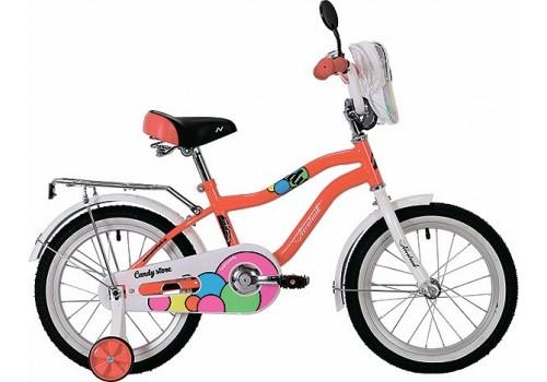 Велосипед 16 дюймов Novatrack Candy коралловый 165CANDY.CRL9