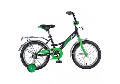 Велосипед 16 дюймов NOVATRACK STRIKE черно-зеленый 163STRIKE.BKG8