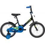 Велосипед 16 дюймов Novatrack  TWIST черный голубой