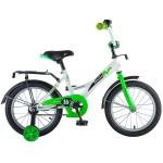 Велосипед 16 дюймов Новатрек STRIKE белый-зелёный