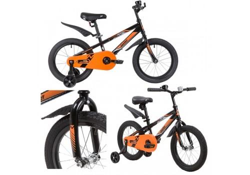 Велосипед 16 дюймов Новатрек JUSTER черный 165JUSTER.BK20