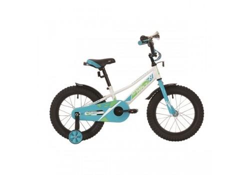 Велосипед 16 дюймов Novatrack белый, VALIANT.WT9