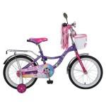 Велосипед 16 дюймов Новатрек LITTLE GIRLZZ фиолетовый