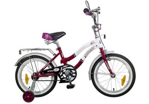 Велосипед 16 дюймов Новатрек Зебра бордово/белый