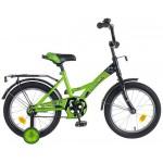 Велосипед 16 дюймов Новатрек FR-10 зелено-черный 077367