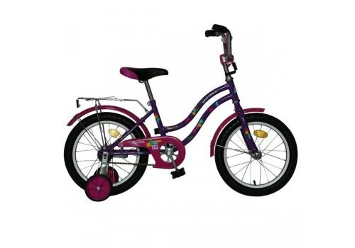 Велосипед Новатрек 16 дюймов TETRIS фиолетовый 098580/124269