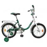 Велосипед 16 дюймов Новатрек UL зелено-белый 32085