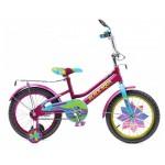 Велосипед Black Aqua Lady 16 1s со светящимися колесиками, фиолетовый - бирюзовый