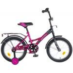 Велосипед 16 дюймов Новатрек FR-10 фиолетово-черный