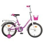 Велосипед Новатрек 16 дюймов UL MAPLE, бело/сиреневый 117092
