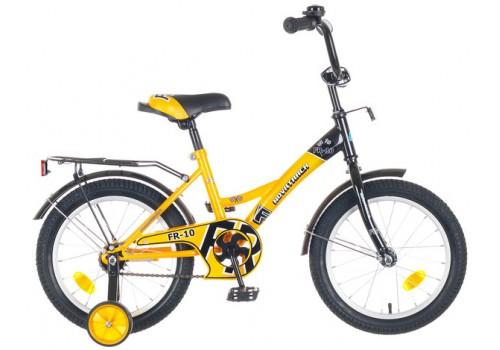 Велосипед 16 дюймов Новатрек FR-10 желтый-черный