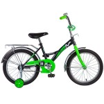 Велосипед 18 дюймов NOVATRACK STRIKE черно/зеленый 183STRIKE.BKG8