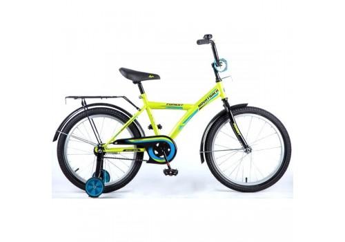 Велосипед 18 дюймов Новатрек YT FOREST зеленый с черным