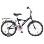Велосипед 18 дюймов Новатрек ВМХ черный/синий