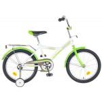 Велосипед Новатрек 18 дюймов YТ FOREST бело-зеленый
