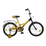 Велосипед 18 дюймов Новатрек FR-10 желтый 077400