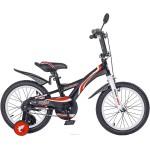 Велосипед 18 дюймов Black Agua Wave со светящимися колесами черно-красный KG1801