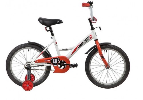Велосипед 18 дюймов Новатрек STRIKE белый-красный