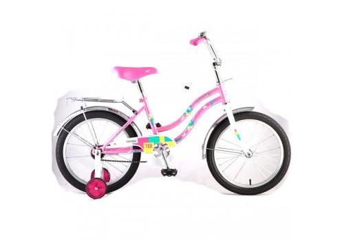 Велосипед 18 дюймов Новатрек TETRIS розовый