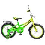 Велосипед Black Aqua Lucky 18 1s  со светящимися колесами, лимонно-салатовый