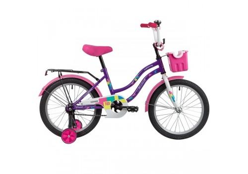 Велосипед 18 дюймов Новатрек TETRIS фиолетовый