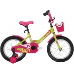 Велосипед 18 дюймов NOVATRACK TWIST зелено-розовый