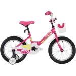 Велосипед 18 дюймов NOVATRACK TWIST бело-розовый